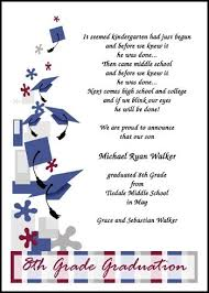 Find Eighth Grade Graduation Caps Galore Announcement And