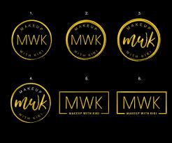 Mwk Design Elegant Modern Makeup Logo Design For Mwk Makeup With