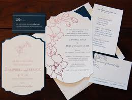 floral inspired wedding invitations chic ink Letterpress Wedding Invitations Ma orchid floral die cut foil stamped wedding invitation chic ink letterpress wedding invitations atlanta