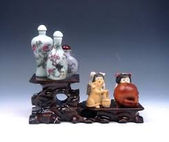 Netsuke Display Stand Wooden Crafted Large 100 Tiers Display Stand Easel For Netsuke Figs 34