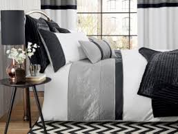 Silver Quilted Panel Bed Set from Next | Bedroom colours ... & Silver Quilted Panel Bed Set from Next Adamdwight.com