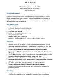 Post Production Assistant Sample Resume 24 Sample Production Assistant Resume Job And Resume Template 8
