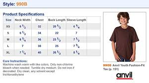 Anvil Youth Shirt Size Chart Anvil 880 Ladies Ringspun T Particular Anvil Youth T Shirt