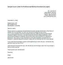 free medical assistant cover letter samples cover letter for medical assistant with no experience cover letters
