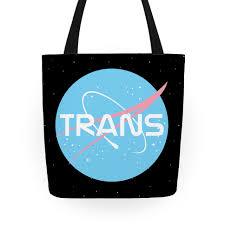 Trans Nasa Tote Bag | LookHUMAN | public trans | Pinterest | Bags ...