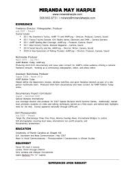 Videographer Resume Samples | Free Resumes Tips inside Videographer Resume