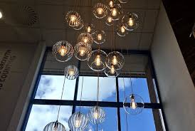enormous cer chandelier glass globe pendants