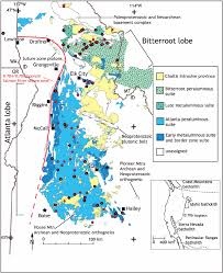 Diagram Idaho The Of Scientific Simplified Geological Map Showing Download Major Batholith