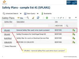 sample safety plan using ibm maximo safety plans