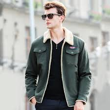 olive green jacket mens india