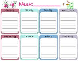 Printable Weekly Calendar Weekly Blank Calendar Template 24 Free Printable Weekly Planner 21