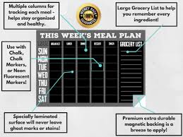 meal planning chart chart and soul magnetic meal planner