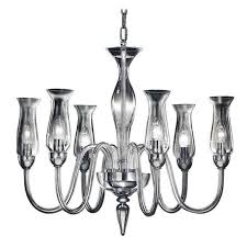 two modern neoclassical clear murano glass chandeliers with glass shades