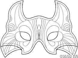 Small Picture Cat Mask Coloring Page Coloring Coloring Pages