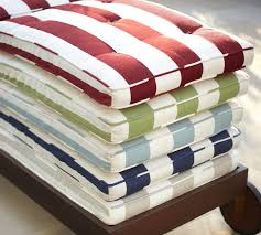 collection in pottery barn outdoor seat cushions tufted outdoor chaise cushion stripe pottery barn
