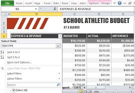 average high school athletic budget athletic budget template for excel