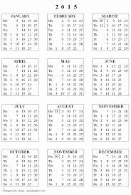 Free Printable Calendars 2015 And Year Planner 2015 Excel