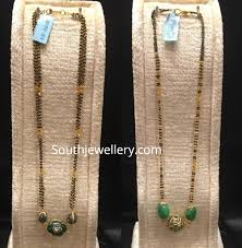Nallapusalu Locket Designs Long Nallapusalu Chains With Lockets Jewellery Designs