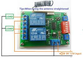 aliexpress com buy 2x ev1527 keyfob dc 12v 2ch rf timer delay dc 12v control circuit wiring diagram below load be led lights fans motors and other dc 12v