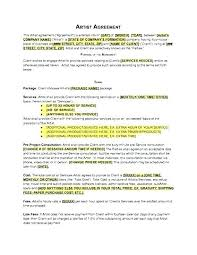 Music Artist Contract Template Music Contract Samples