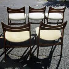 vine five rosewood danish dining chairs by erik buch
