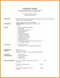 Dental Assistant Resume Objectives Dental assistant Resume Objective Camelotarticles 1