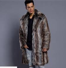lyst burberry fox fur coat in natural for men