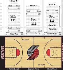 Moda Center Hockey Seating Chart Stadium Flow Charts