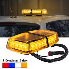 Snow Plow Emergency Lights 24 Led Emergency Warning Light Mini Bar Strobe Light For