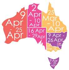 Easter 20Holiday, dates, public, holidays, australia