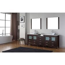 90 Bathroom Vanity Virtu Usa Dior 90 In W X 183 In D Vanity In Espresso With Stone