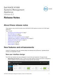 Dell Kace K1000 Systems Management Appliance Version 6 0 Manualzz Com