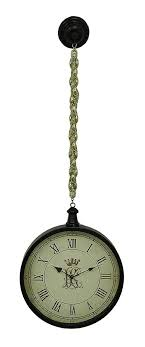 metal antique style hanging pocket watch wall clock