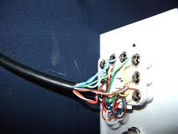 how to connect a ethernet wall plate youtube magnificent wiring ethernet wall socket installation at Ethernet Wiring Diagram Wall Jack