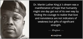 Martin Luther King Jr Quotes On Courage Extraordinary Aberjhani Quote Dr Martin Luther King Jr's Dream Was A
