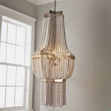 valencia wood bead chandelier large shades of light