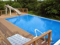 Poolyard Fs Above Ground Fiberglass Pools Little House Farm In