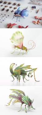 Imaginative Insects Formed From Resin and Brass by Hiroshi Shinno.