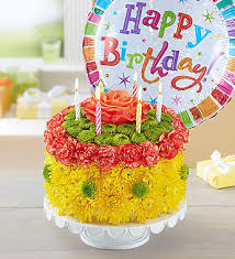Birthday Wishes Flower Cake Yellow Conroys Flowers