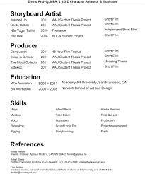 Art Box Animation Resume
