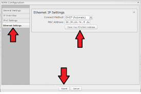 support troubleshoot common problems connecting a wired wan be sure to separate each letter digit pair in the mac address a colon and not a hyphen for example here the cradlepoint router will be changed to use