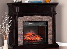 pleasant hearth electric fireplace corner lh 24 23 in logs with heater