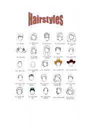 Hairstyle Names For Women english teaching worksheets hairstyles vocabulary 5167 by stevesalt.us