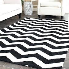 black and white chevron rug grey 5x7