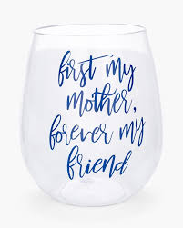 return to thumbnail image selection first my mother stemless wine glass