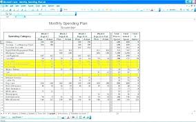 Sample Spreadsheet For Monthly Expenses Personal Monthly Expense Sheet Template Make Budget