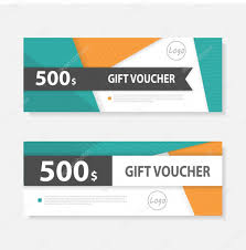 gift certificate for business orange green gift voucher template with colorful pattern cute gift