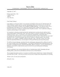Public Relations Manager Cover Letter Sample For Job With Regard To