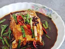 braised leatherjacket fish recipe