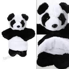 Burattino Di Mano In Bianco E Nero Del Fumetto Animali Panda